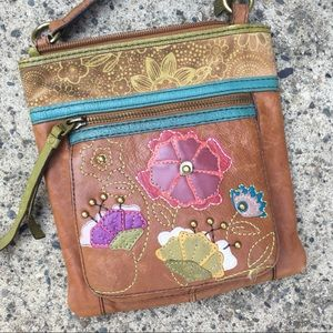 Small Fossil embroidered Purse